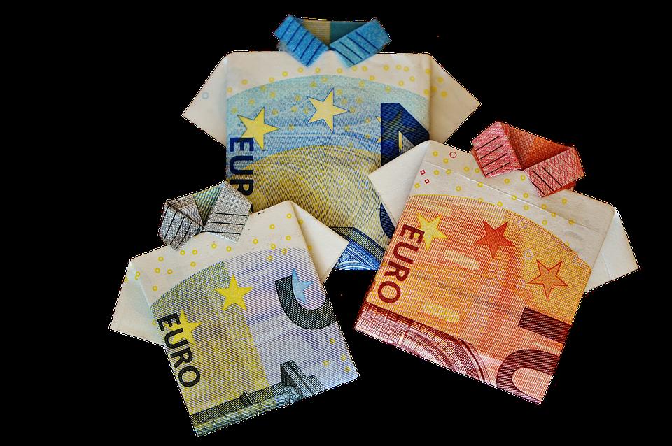 poskládaná eura